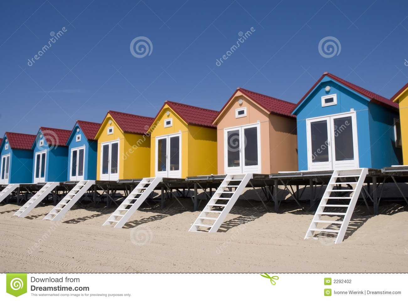 Pictures of houses on the beach - Royalty Free Stock Photo Download Blue Little Beach Houses