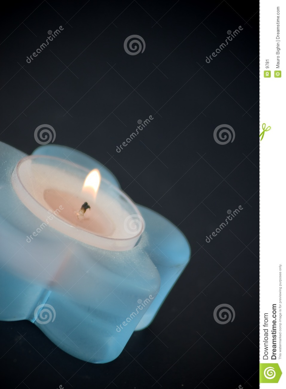 Blue little candle