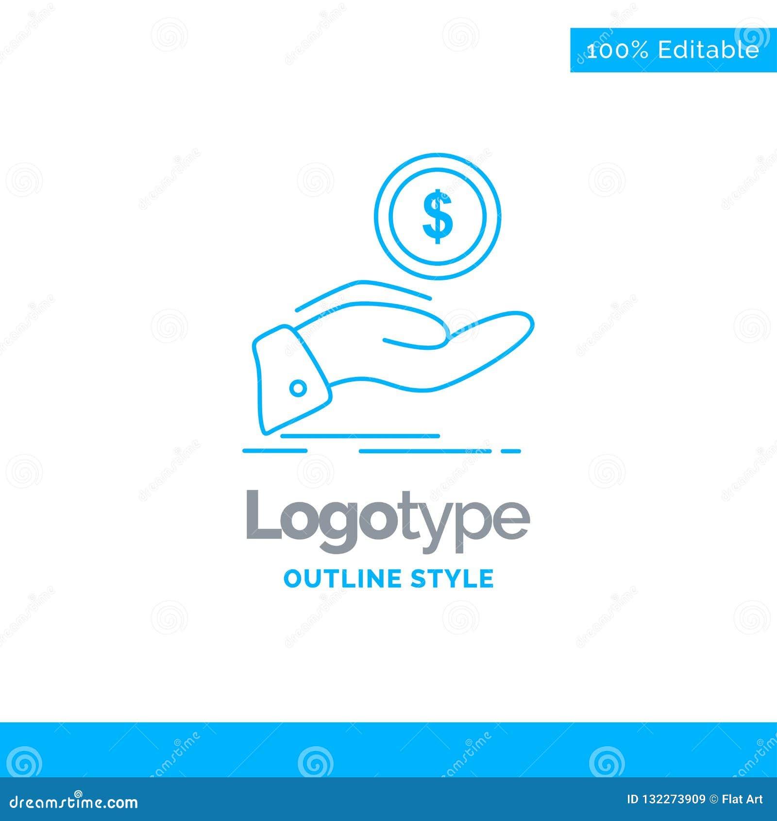 Blue Logo Design For Help, Cash Out, Debt, Finance, Loan ...