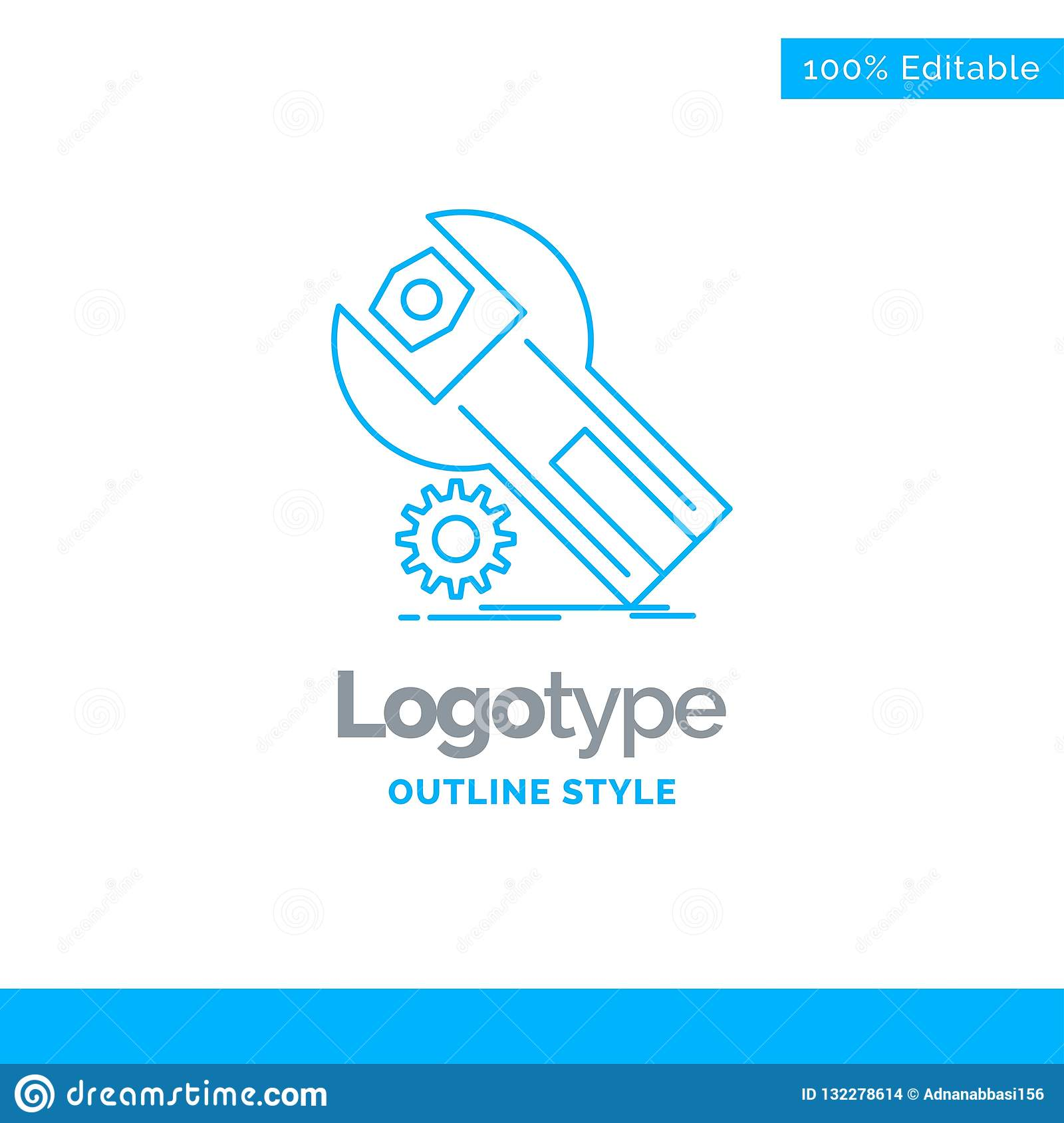 Blue Logo Design For Settings App Installation Maintenance S