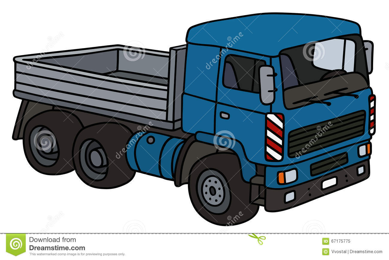 Blue lorry truck stock vector