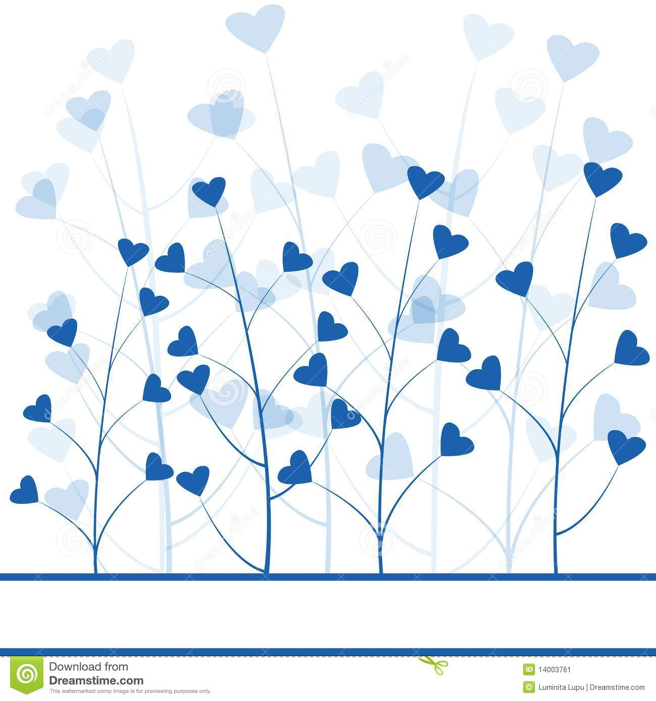 Blue love forest