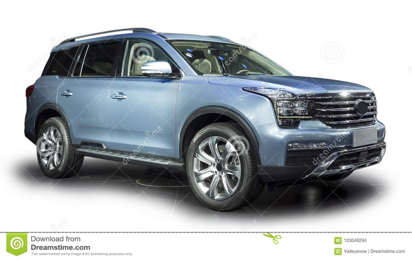 Blue Luxury SUV