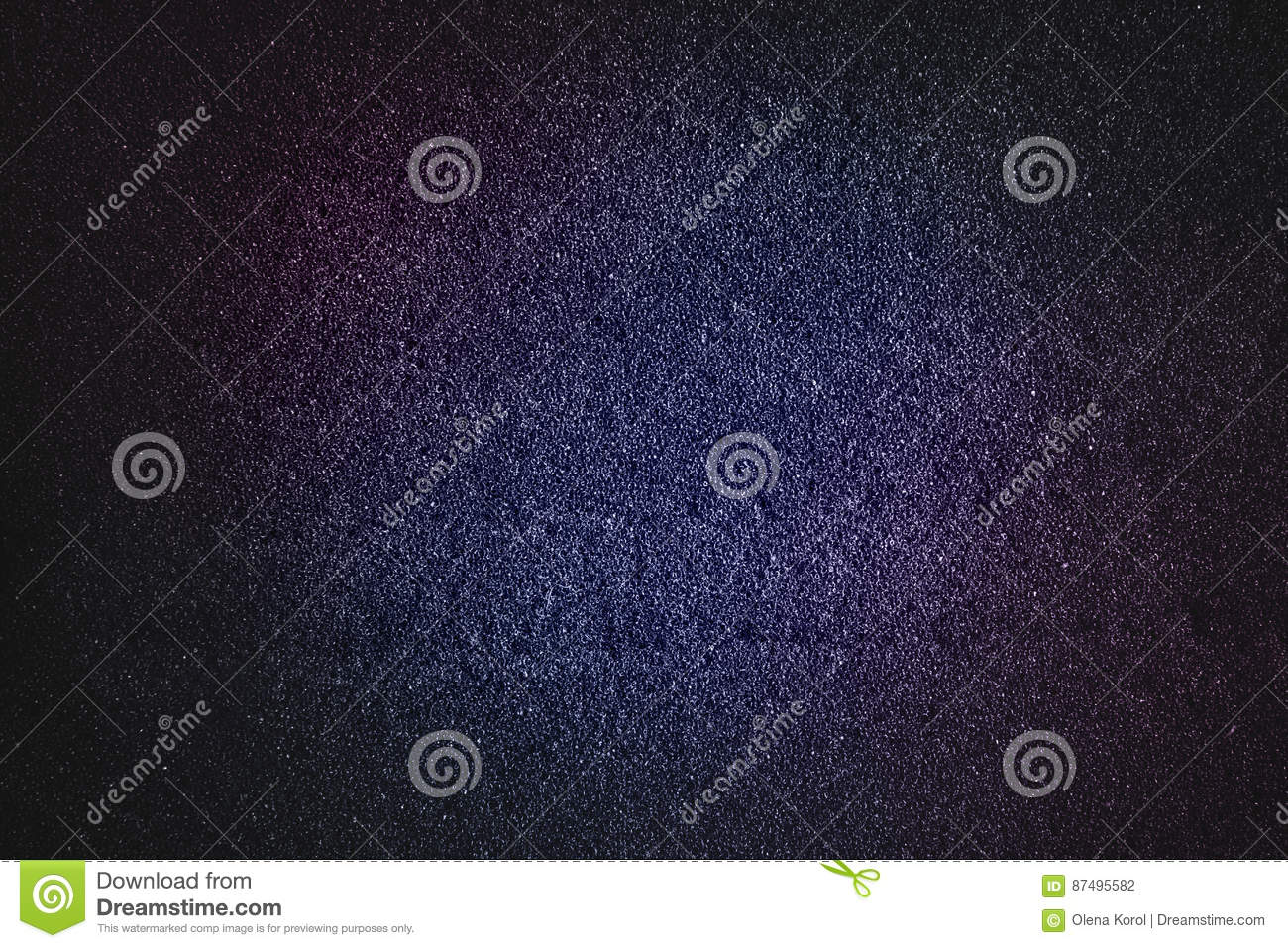 Blue magenta abstract texture with black tone glitter background