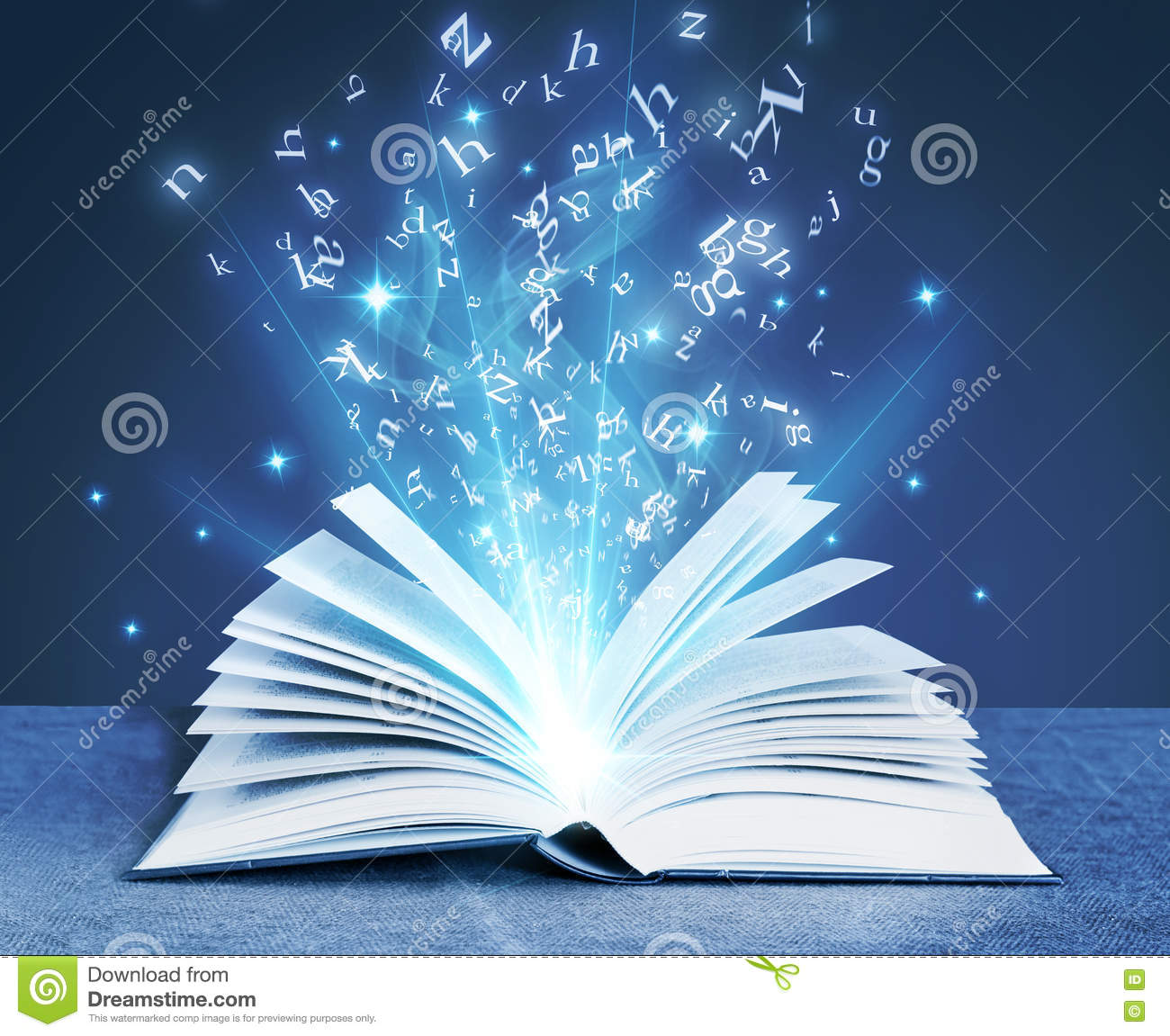 blue magical book stock image image of magical blue 78265669