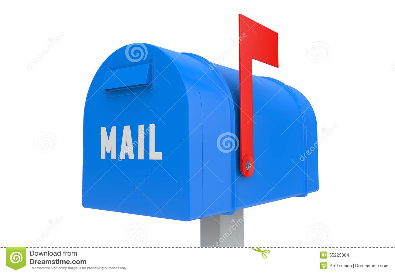 mailbox flag up. Unique Mailbox Download Blue Mailbox With Red Flag Up Isolated Stock Illustration   Of Backgrounds Correspondence Intended L