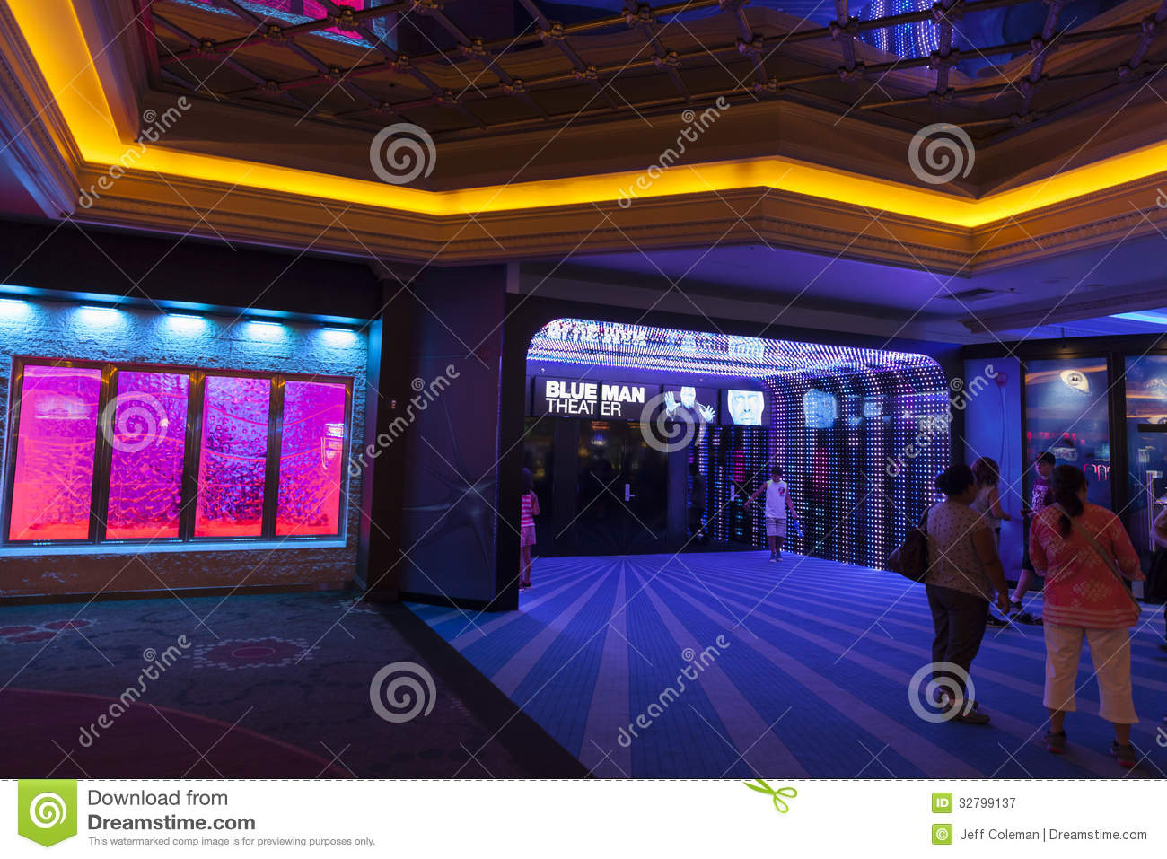 Blue Man Theater Entrance At Monte Carlo In Las Vegas, NV On Aug ...