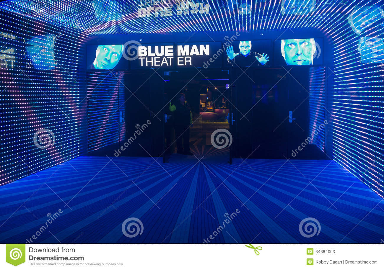 Blue man theater editorial stock photo image 34664003 - Blue man group box office ...