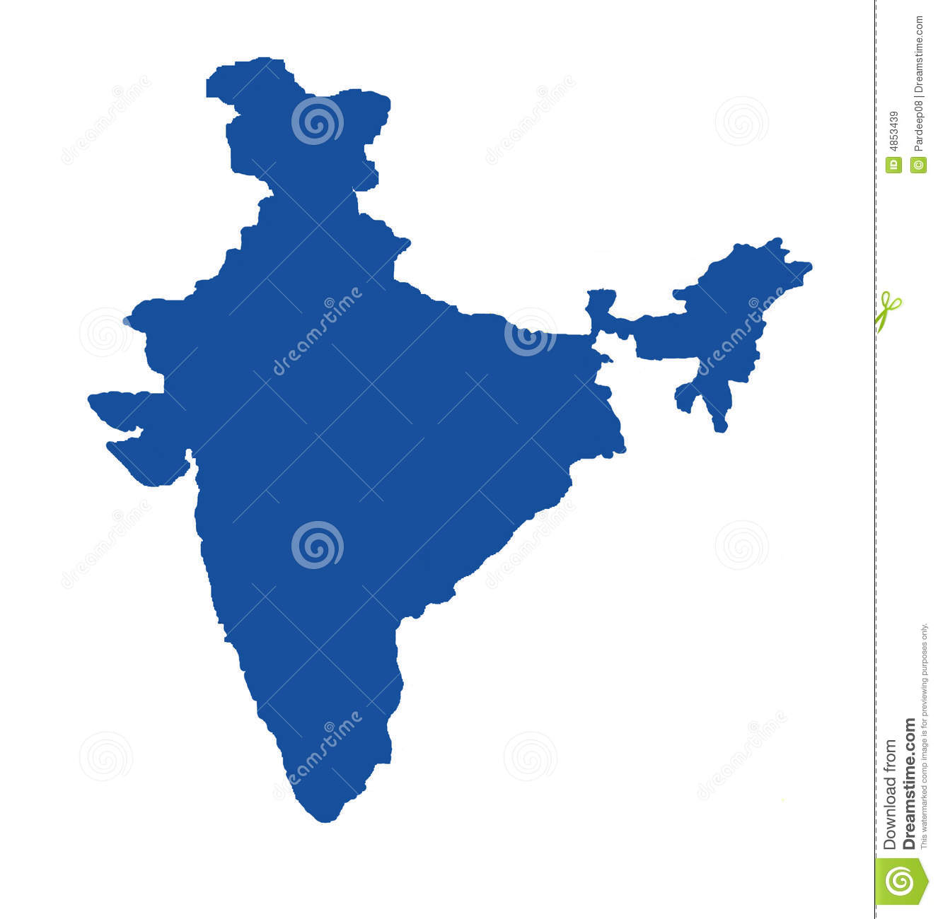 blue map of india royalty free stock images   image 4853439