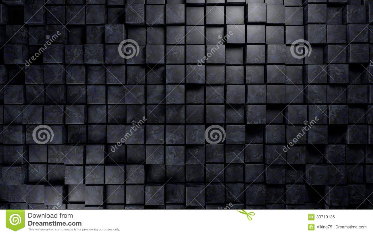 Blue Marble Material Cubes Background Stock Illustration