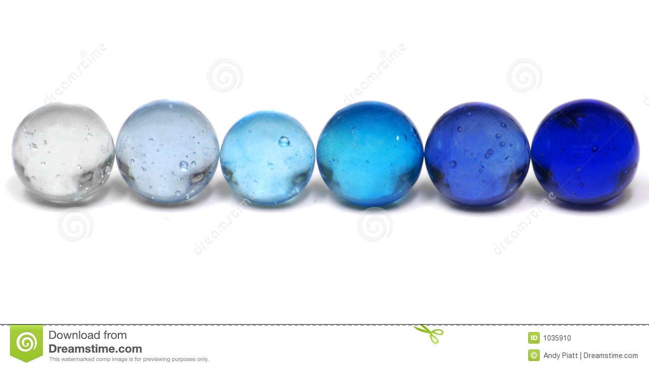 Blue Marbles Stock Photo Image Of Bright Clearies