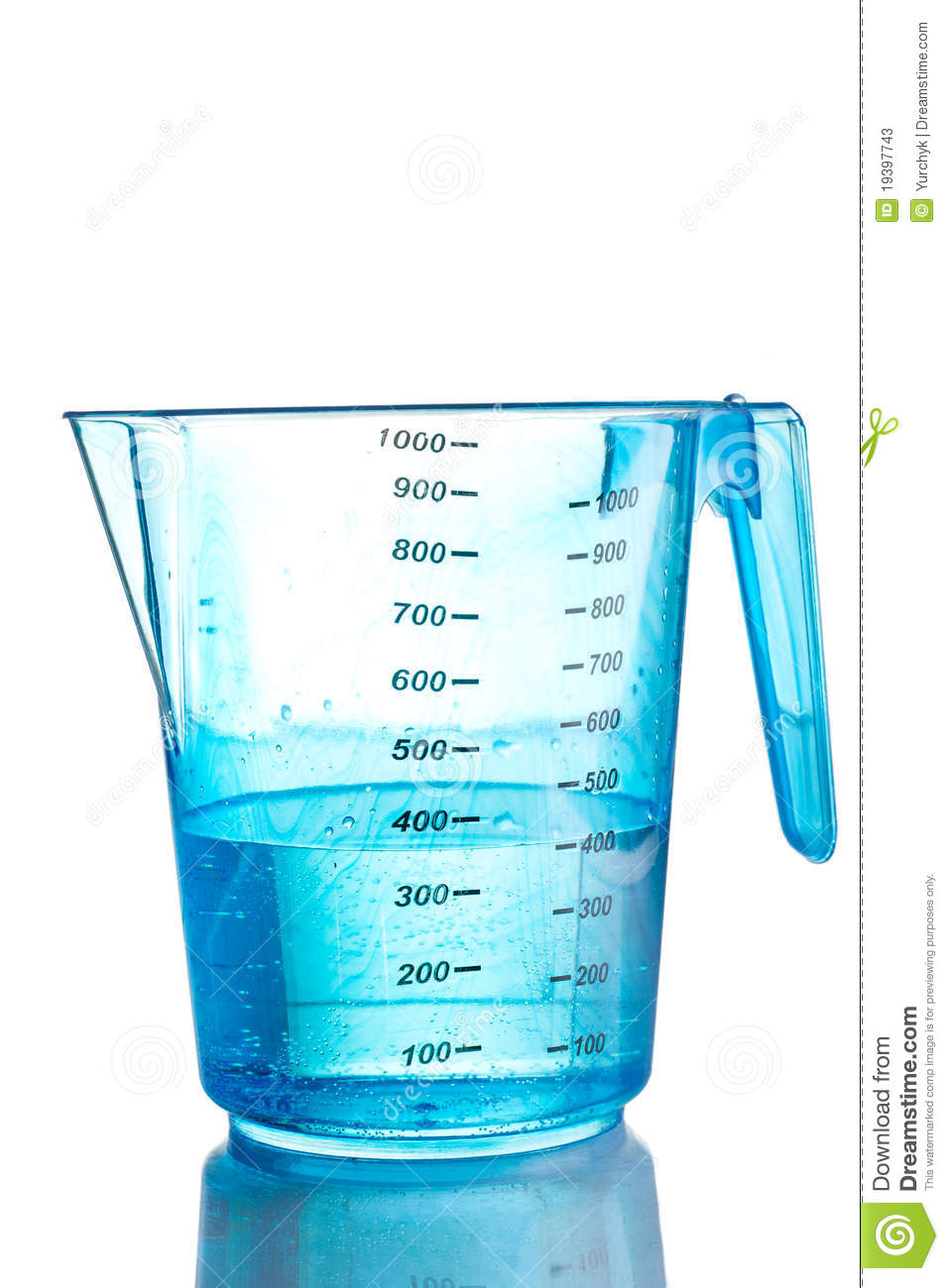 Blue Measuring Cup Filled With Water Stock Photos - Image ...