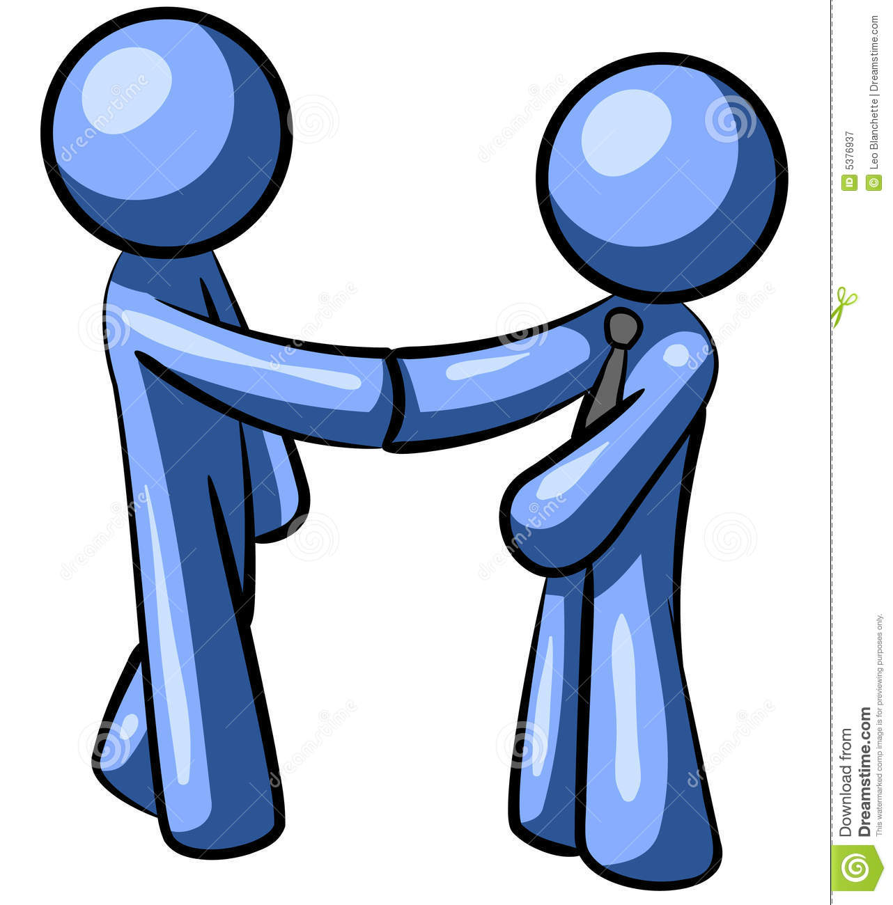 Blue Men Handshake Royalty Free Stock Photography - Image: 5376937