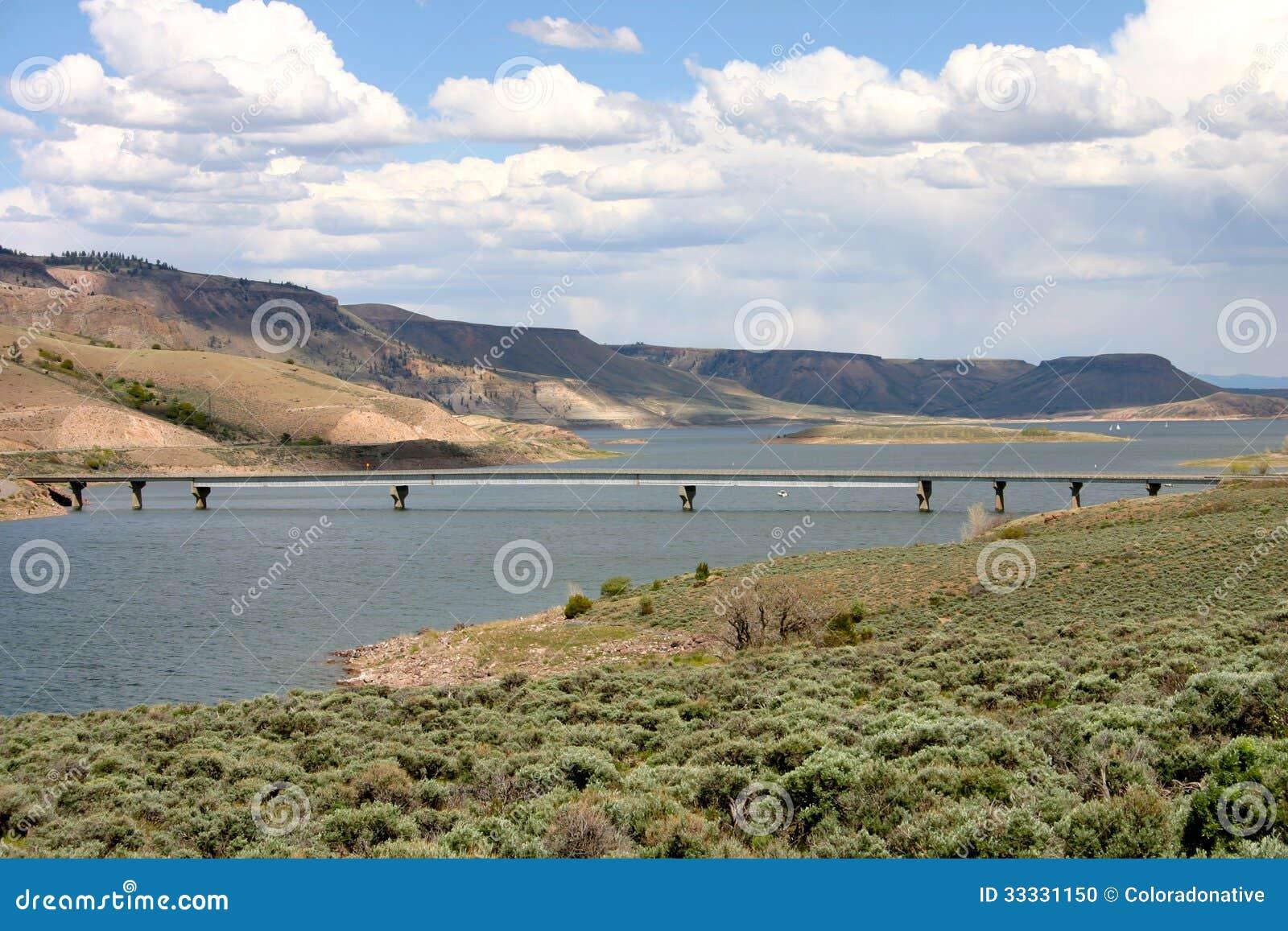 Blue mesa reservoir bridge stock photo image 33331150 for Blue mesa reservoir fishing