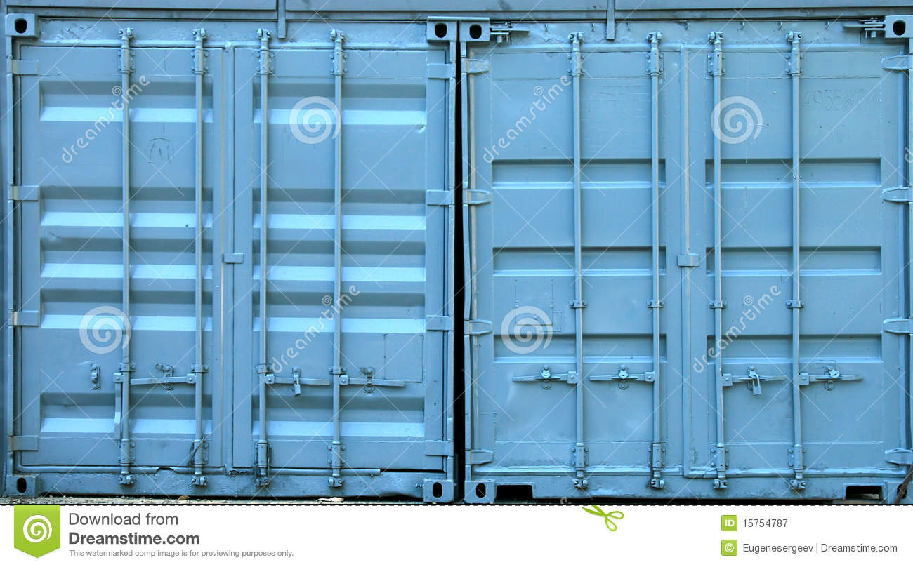 Blue Metal Containers Royalty Free Stock Photography - Image: 15754787
