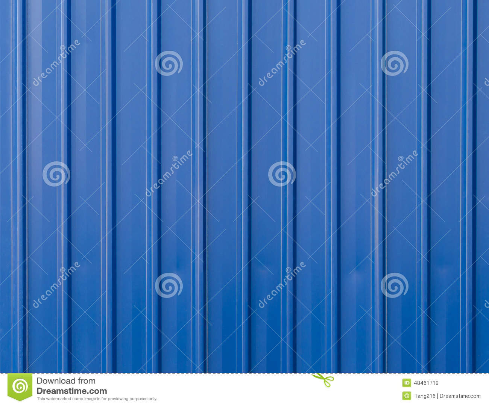 Blue Metal Fence Background Stock Image Image Of