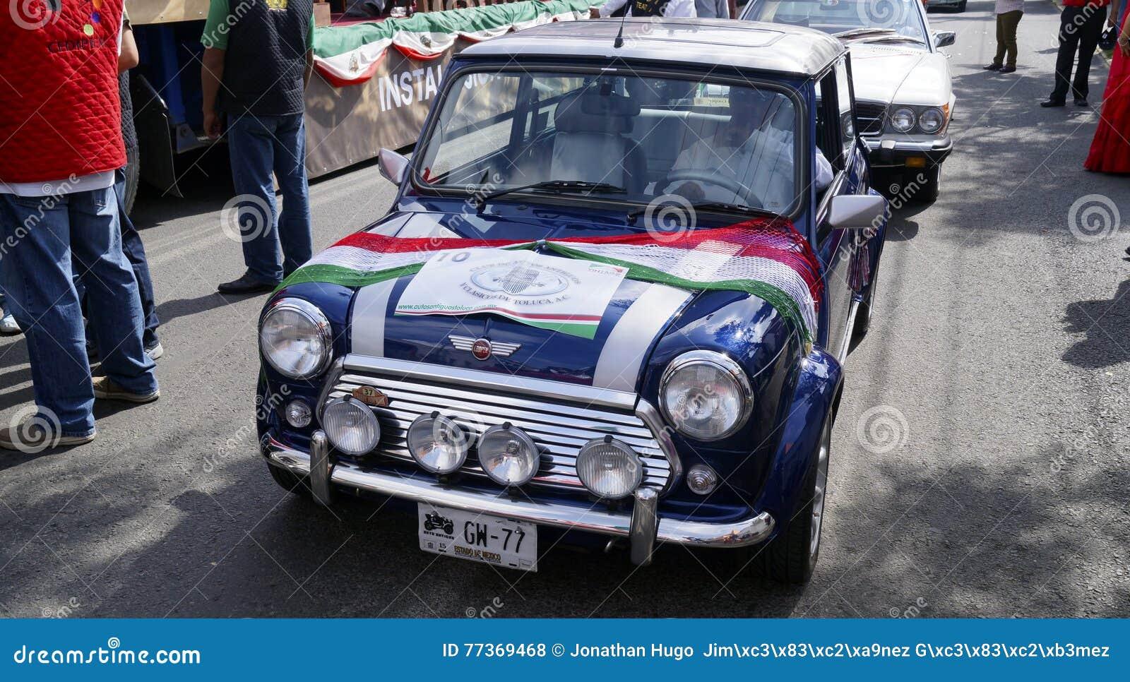 blue mini cooper model 1959 editorial stock photo image 77369468