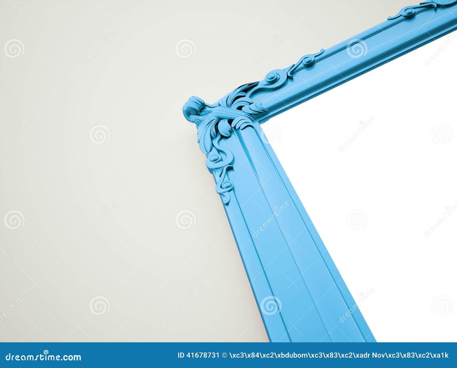Blue Mirror Frame Vintage Concept Stock Illustration - Image: 41678731