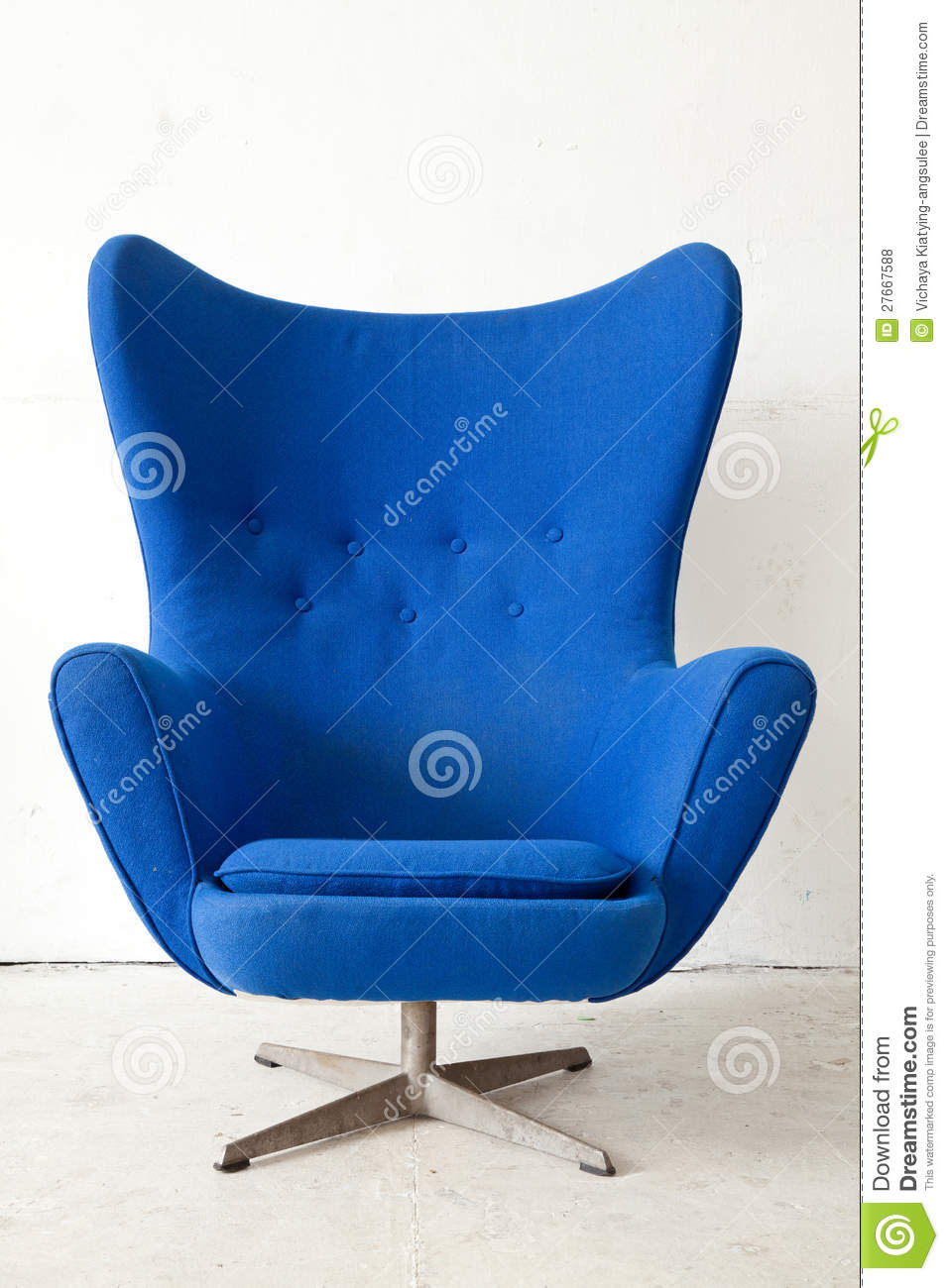 Blue Modern Armchair Royalty Free Stock Photos - Image ...