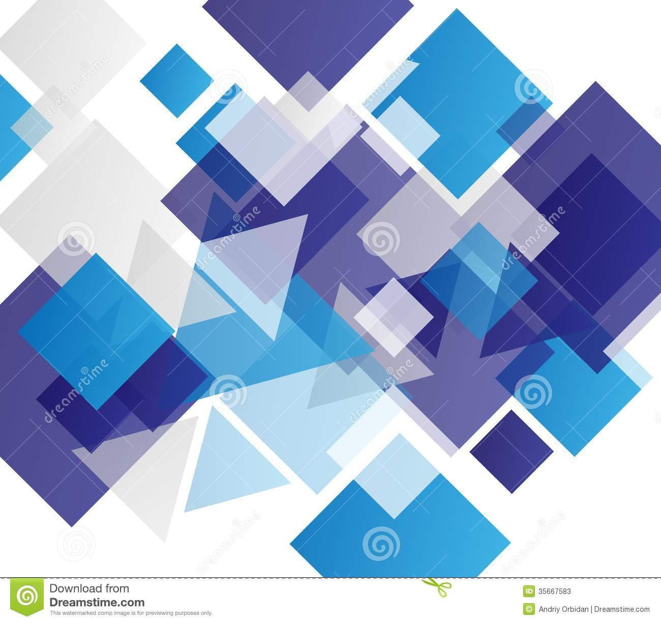 Blue Modern Geometric Abstract Background Stock Vector ...