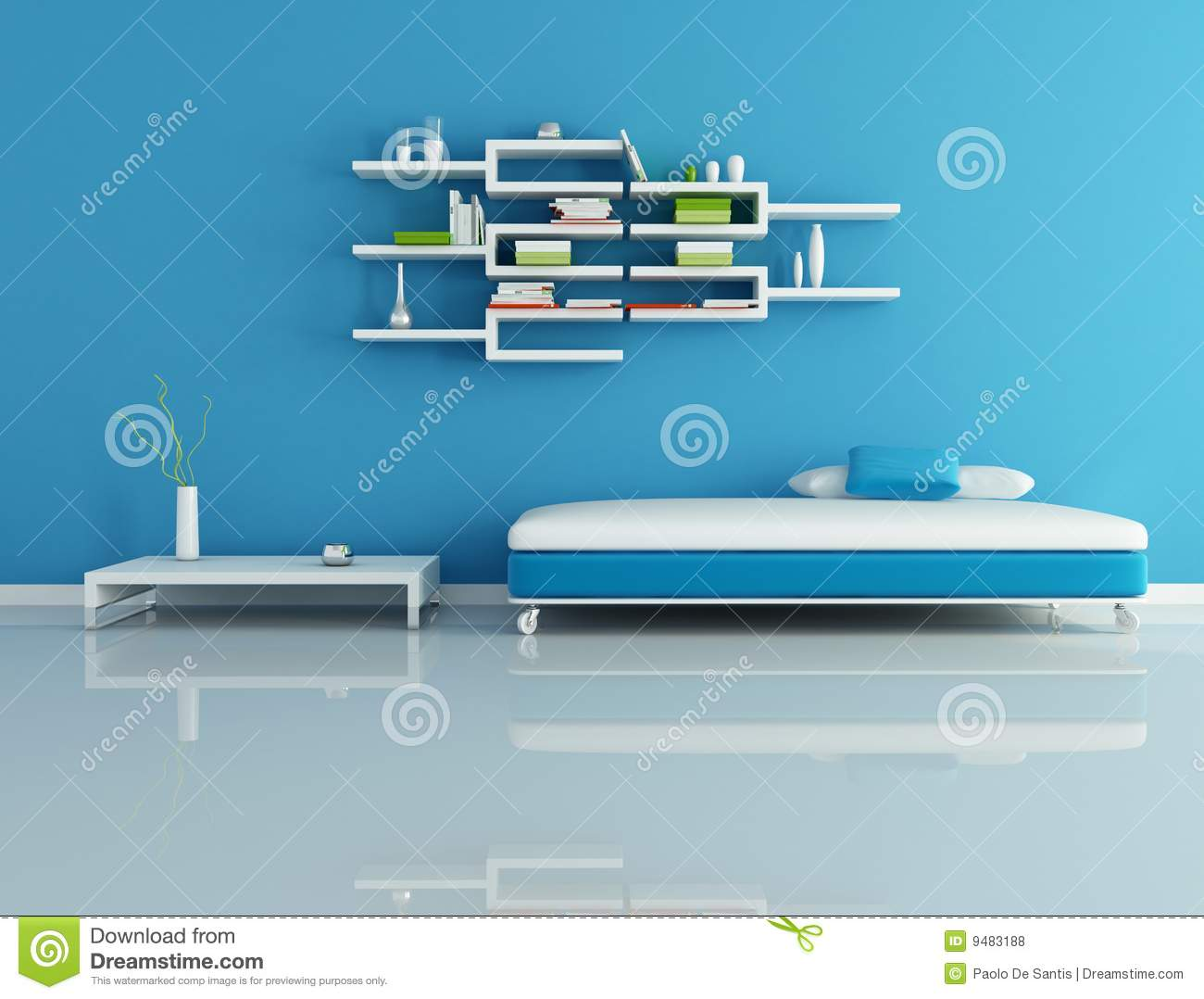 Modern Living Room Blue blue modern living room royalty free stock photos - image: 9483188