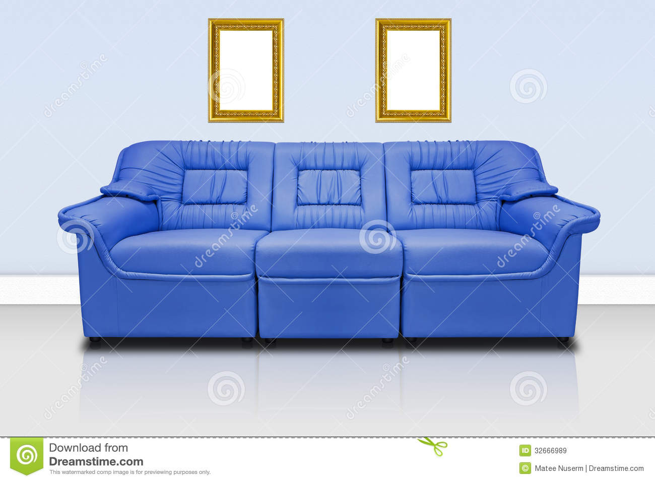 Blue modern sofa royalty free stock images image 32666989 for Blue modern house