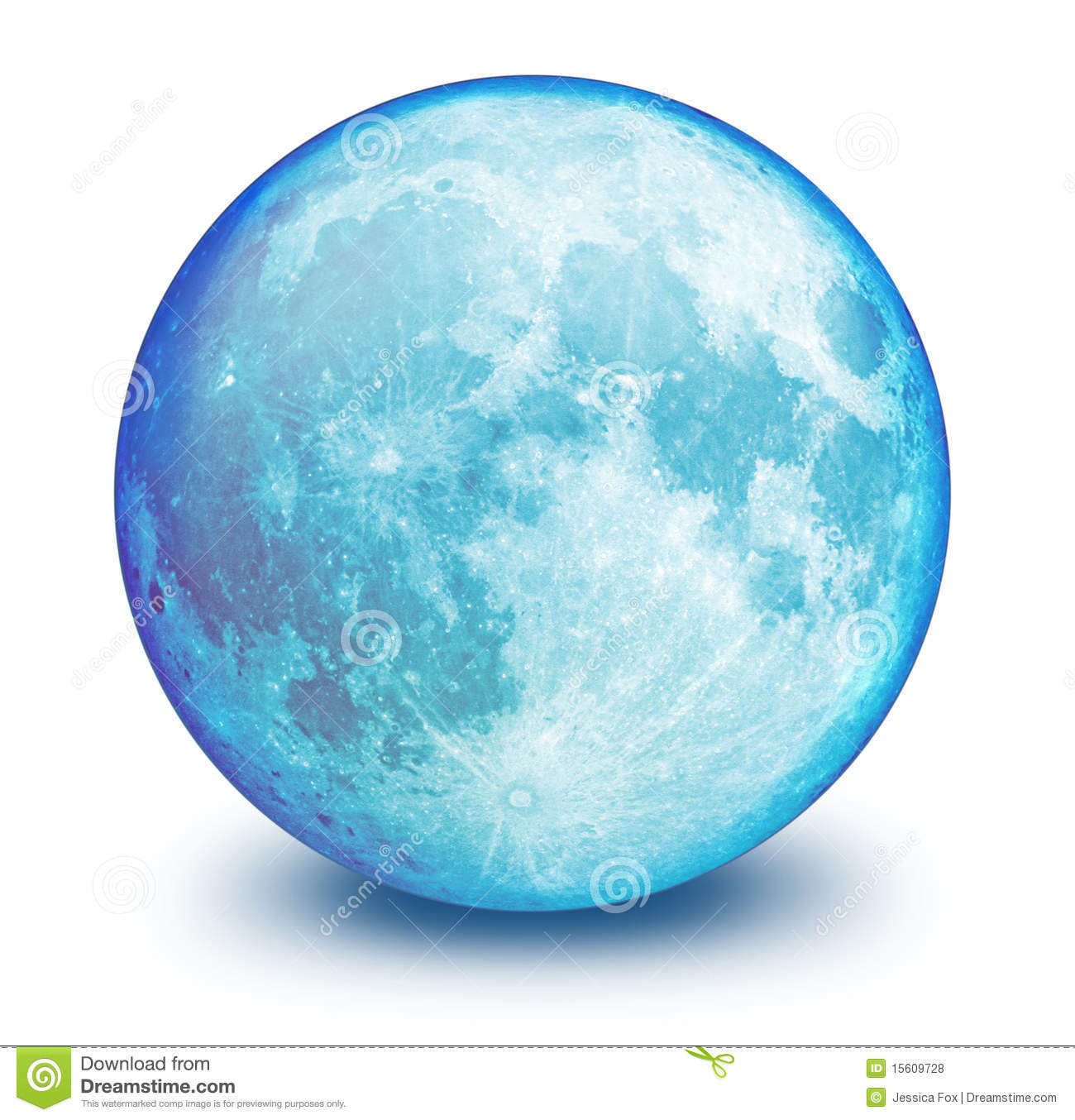 Blue Moon Sphere Royalty Free Stock Photos - Image: 15609728