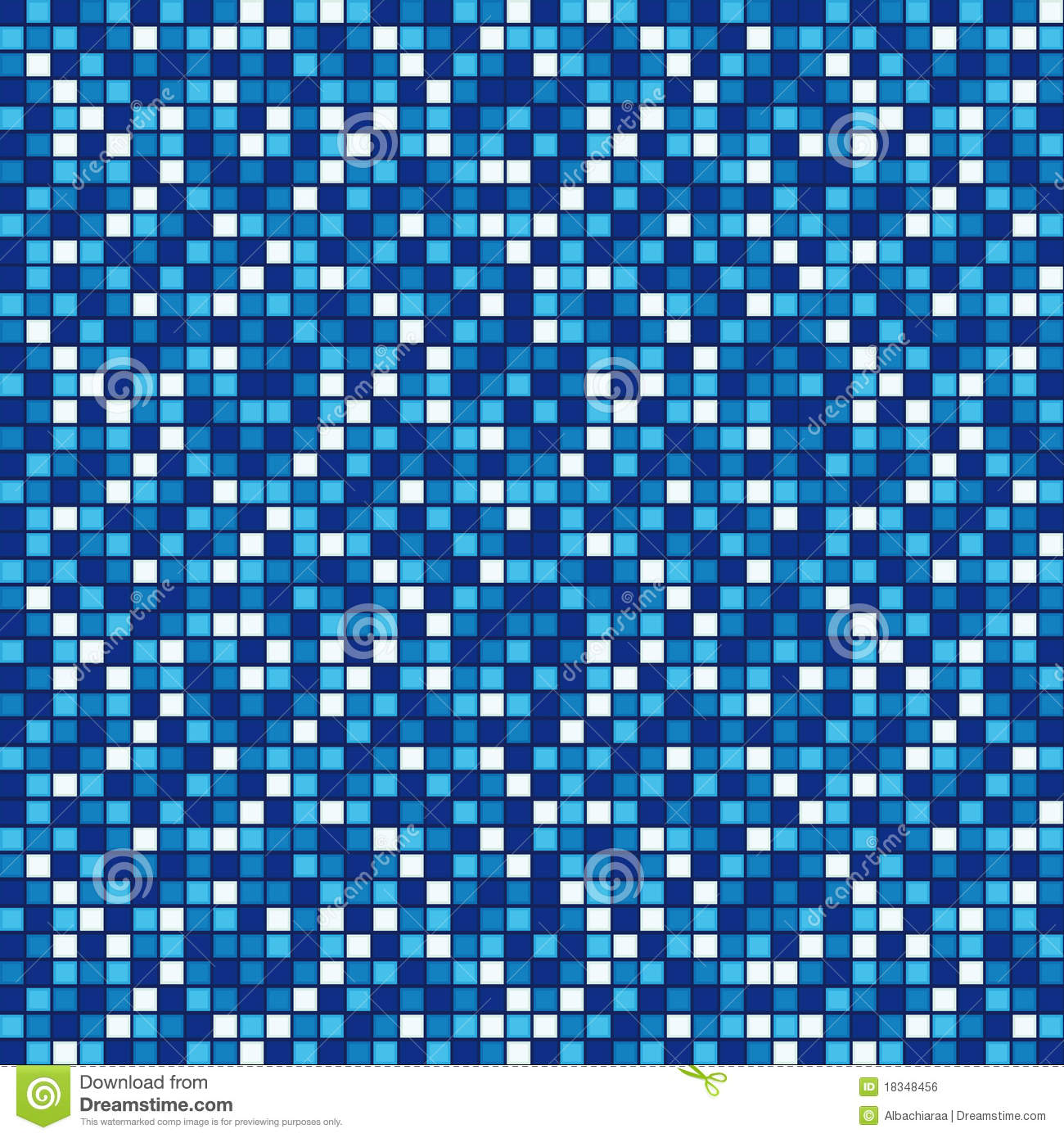 Blue Mosaic Royalty Free Stock Image Image 18348456