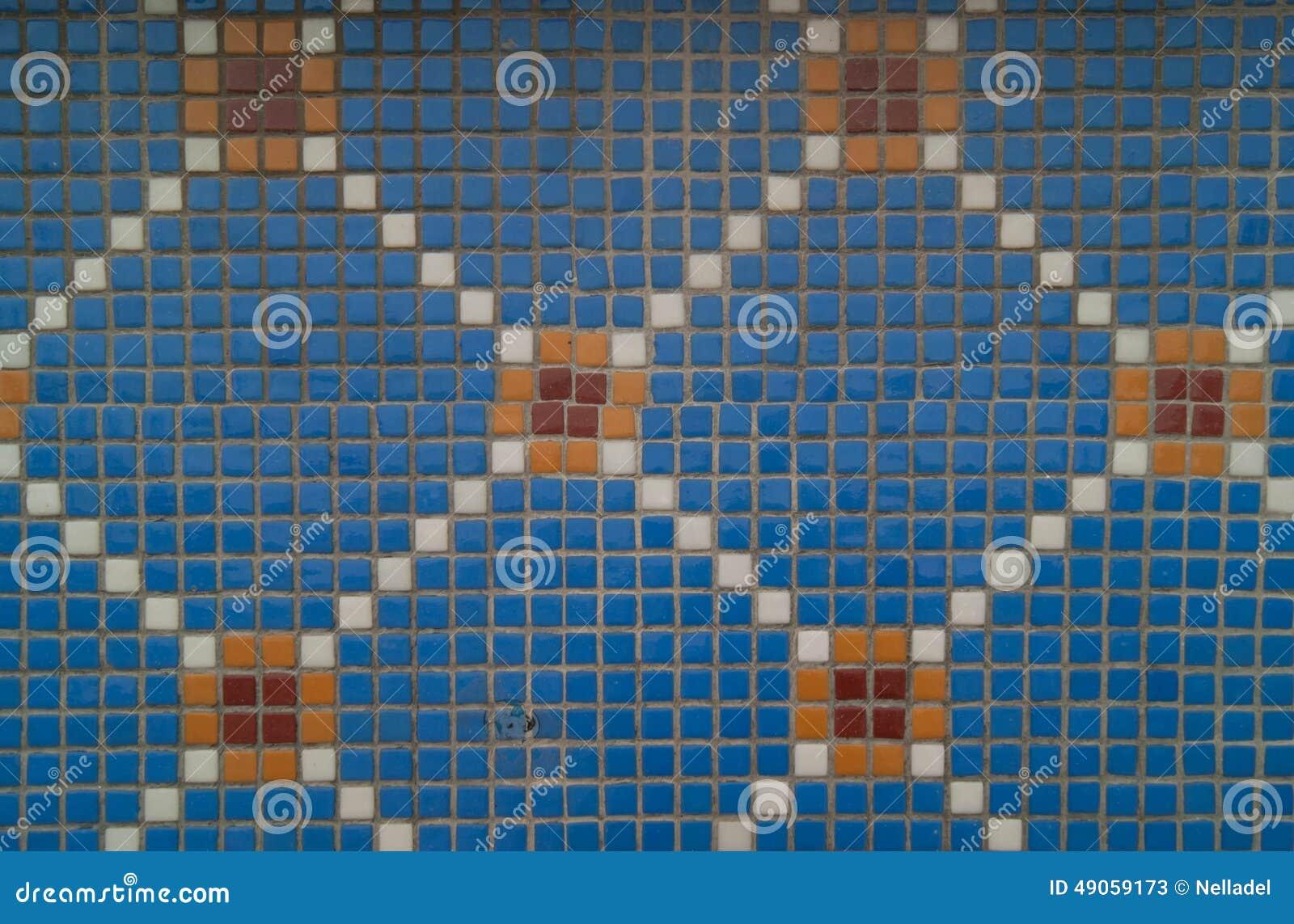 Blue mosaic tile stock image. Image of mosaic, design - 49059173