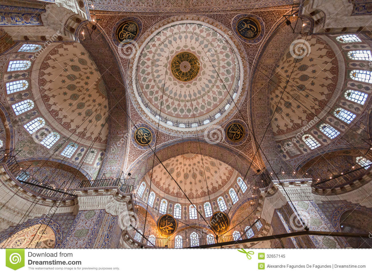 Blue Mosque Ceiling Istanbul Stock Image - Image of ...