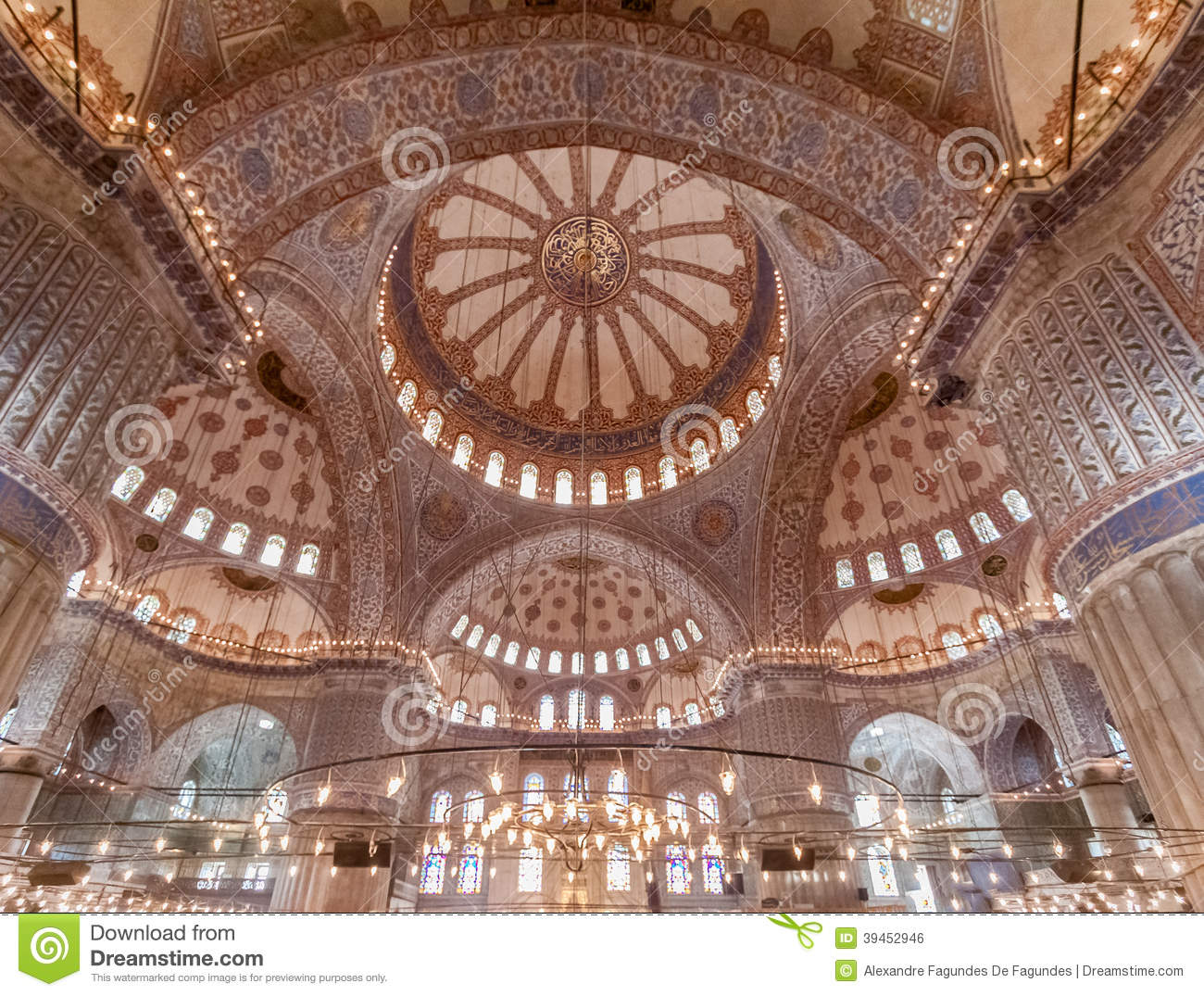 Download Blue Mosque Ceiling Istanbul Stock Photo - Image of mosque, muslim: 39452946