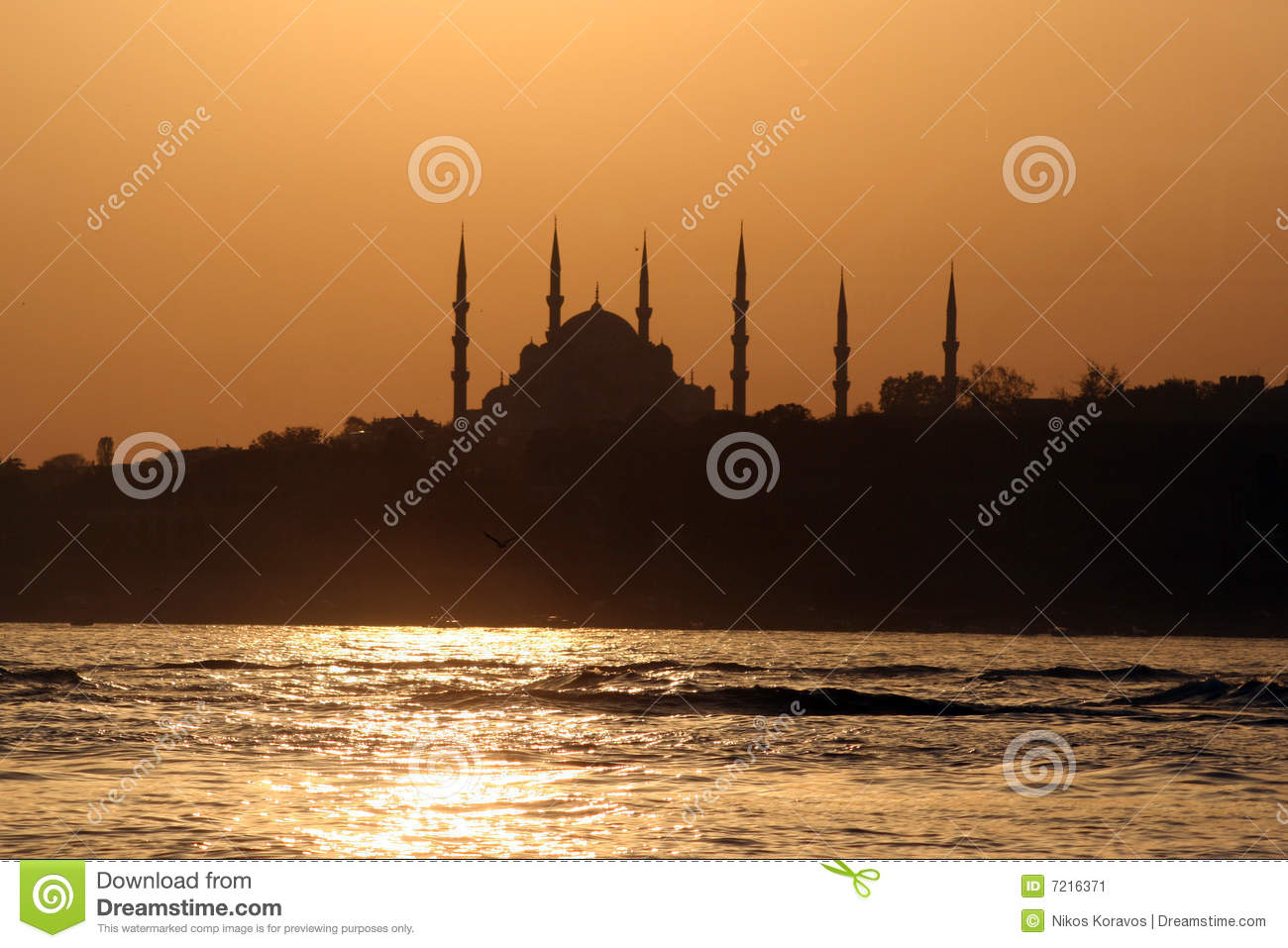The Blue Mosque, Istanbul, sunset
