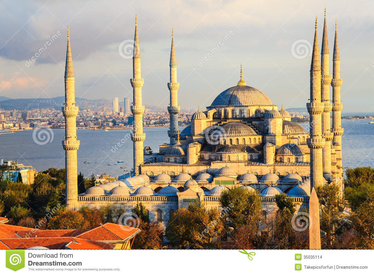 Blue mosque in istanbul stock photo image of evening for Blue istanbul hotel taksim