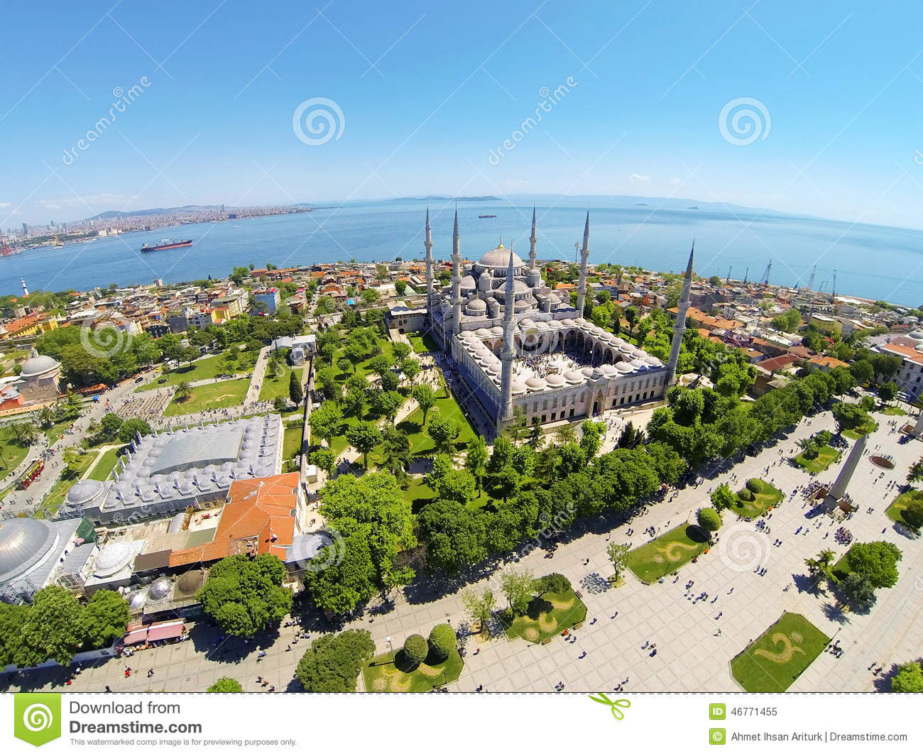 Blue mosque at sultanahmet square stock photo image for Blue istanbul hotel taksim