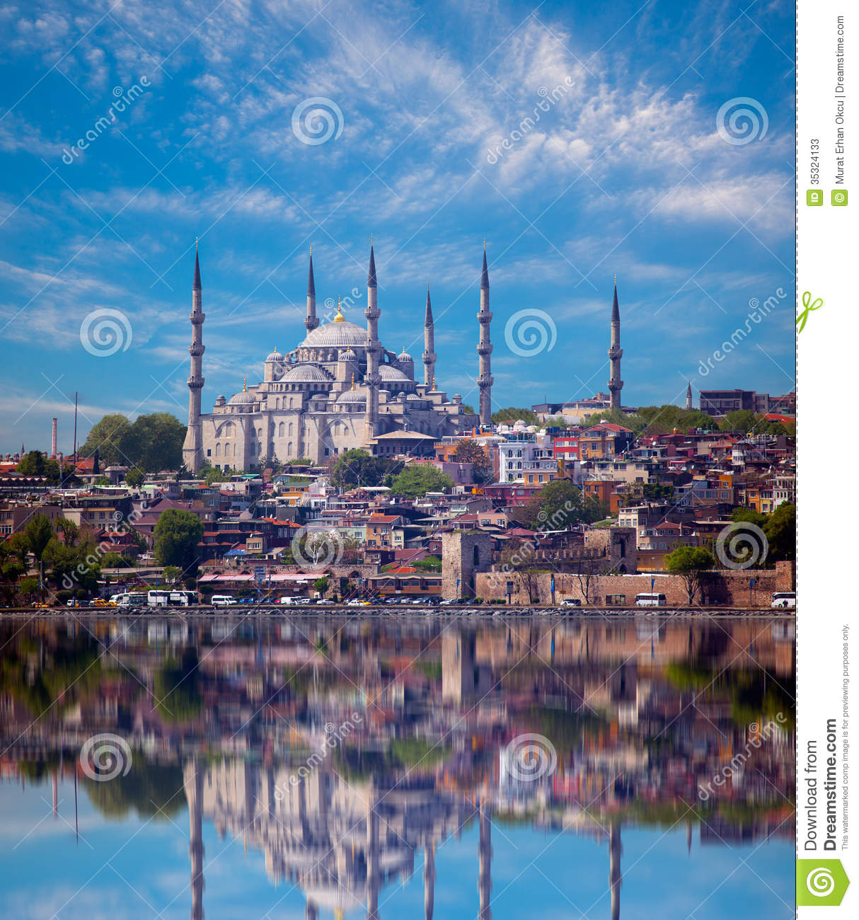The blue mosque view from bosporus strait sultanahmet for Blue istanbul hotel taksim