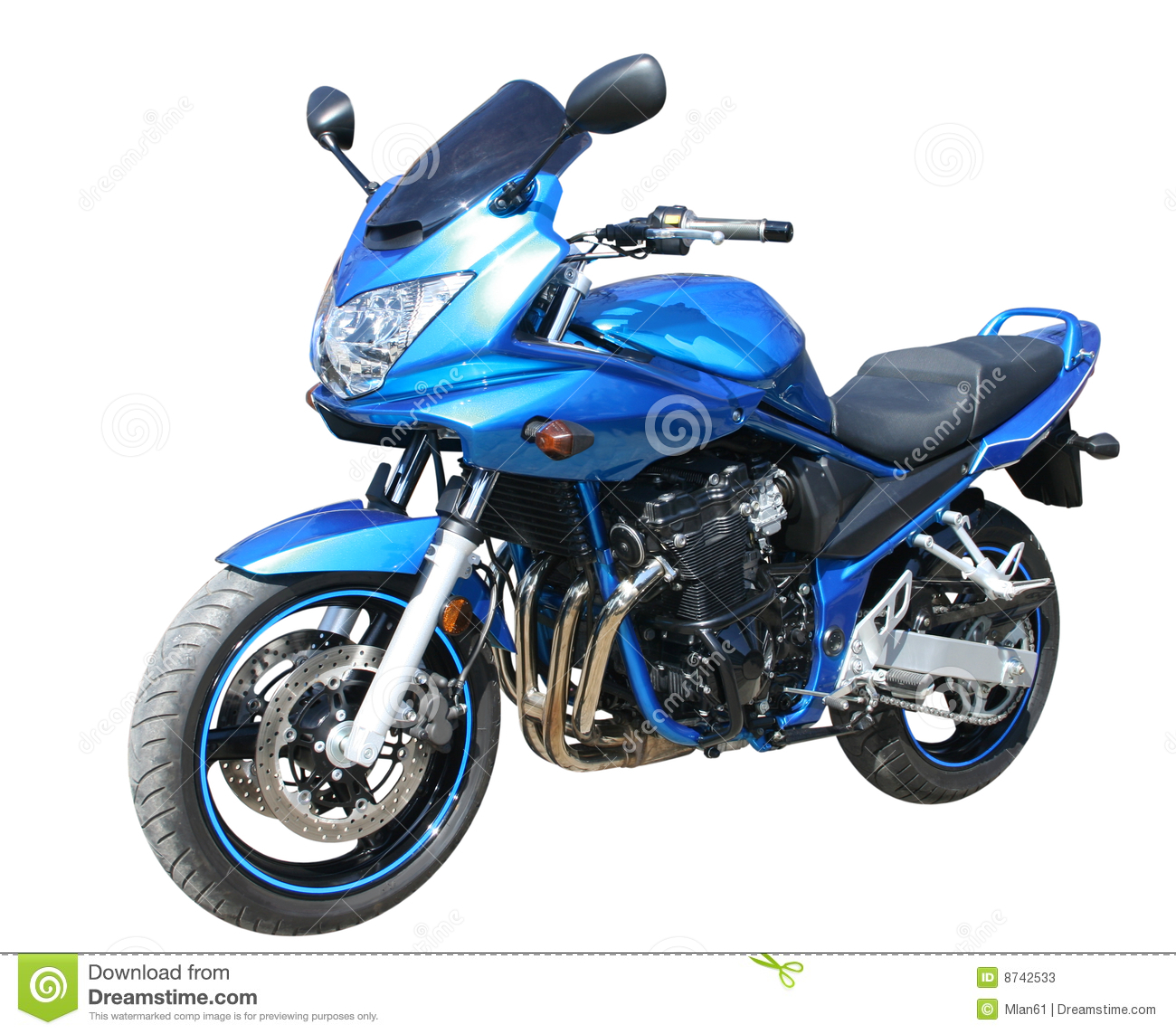 Blue Motorcycle Stock Photos - Image: 8742533