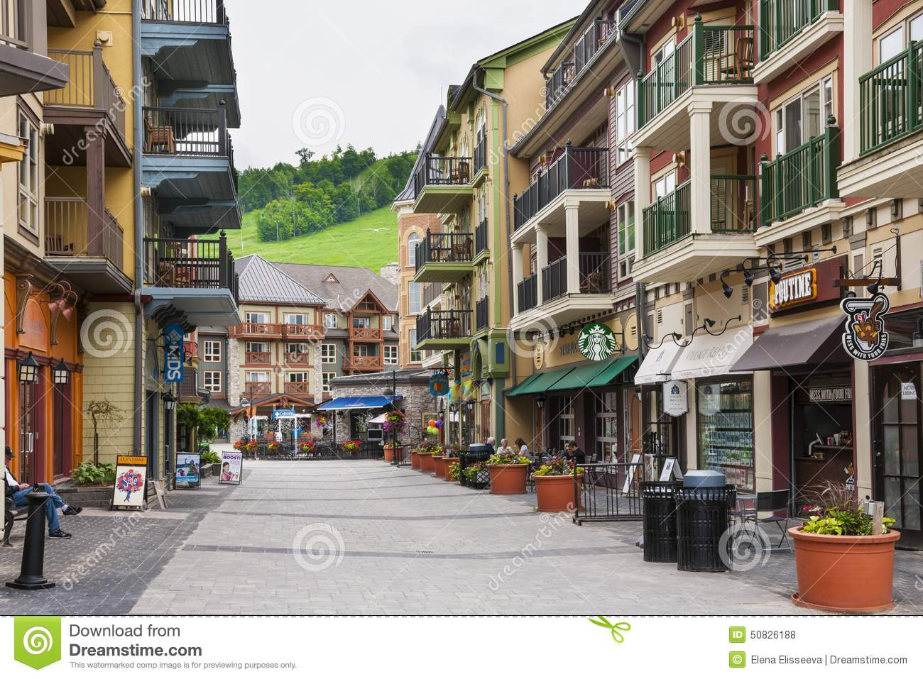 Blue mountain village in summer collingwood canada editorial blue mountain village in summer collingwood canada accommodation hotels kristyandbryce Image collections
