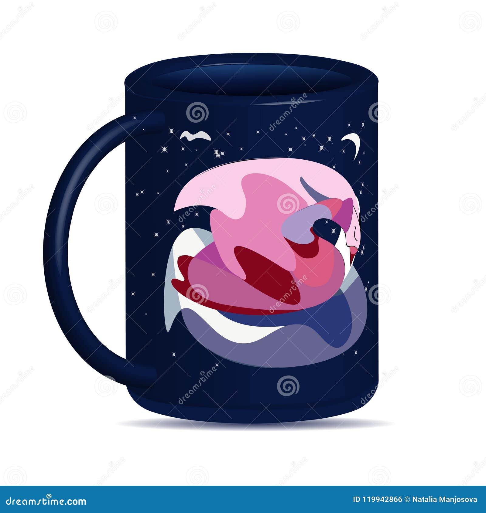 Mug with an abstract swan