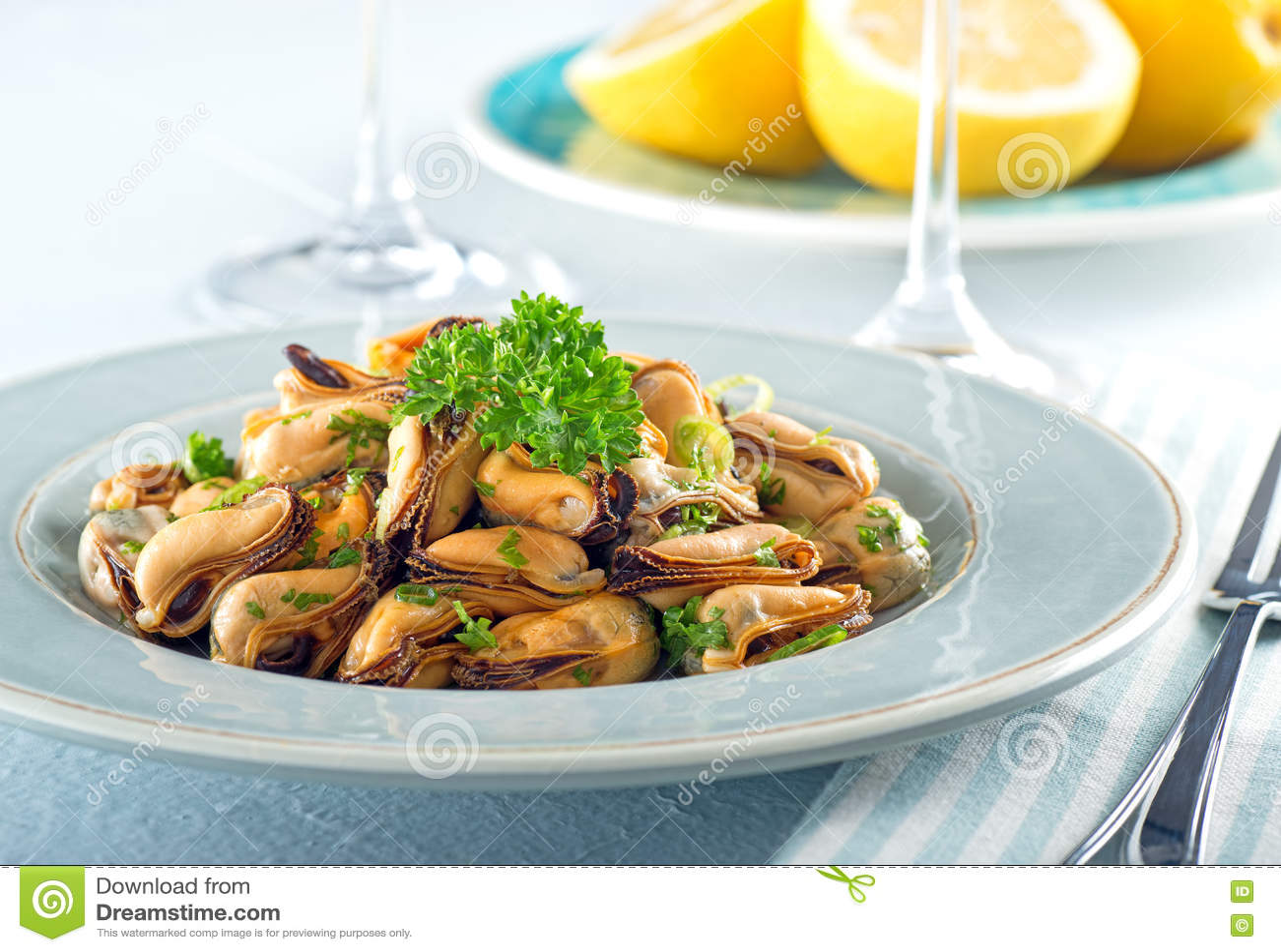 Blue Mussel Salad