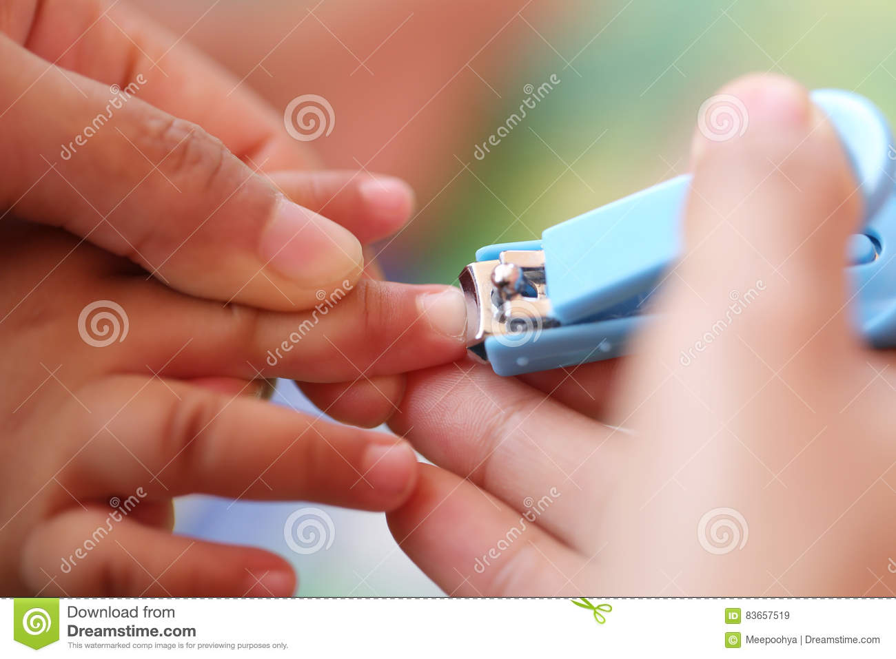 Blue Nail clipper.