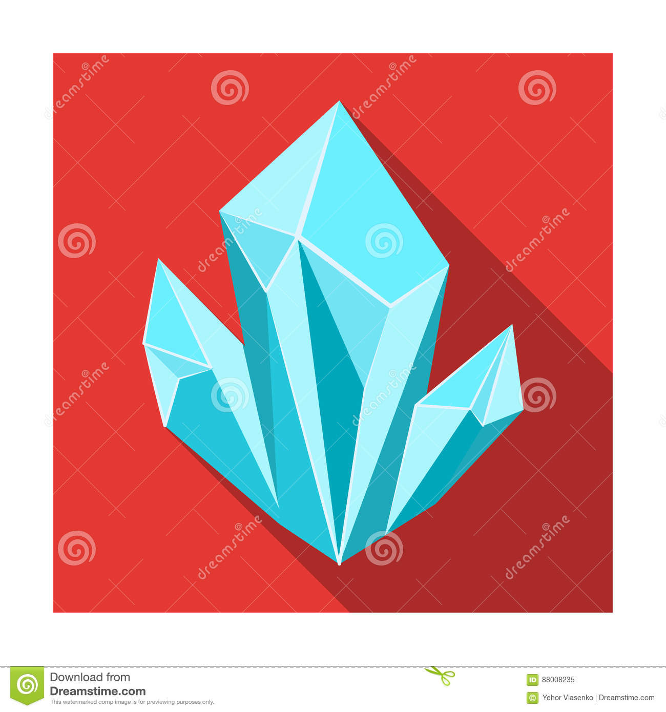 Blue natural mineral icon in flat style isolated on white blue natural mineral icon in flat style isolated on white background precious minerals and jeweler symbol stock vector biocorpaavc Images