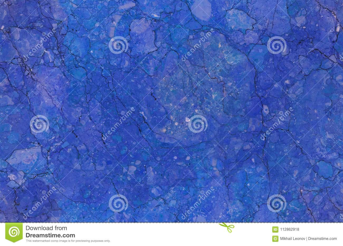 Blue natural seamless marble stone texture pattern background. Rough natural stone seamless marble texture surface with cracks, de