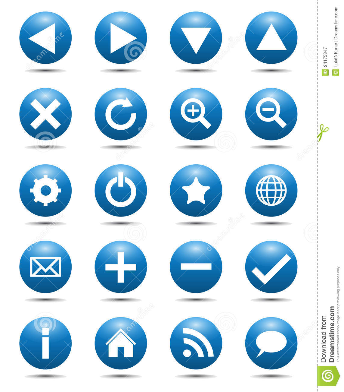 Blue Navigation Web Icons Royalty Free Stock Photography ...