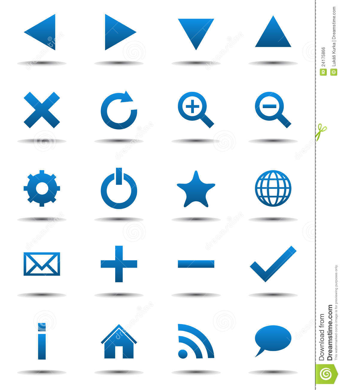 Blue Navigation Web Icons Royalty Free Stock Image - Image ...