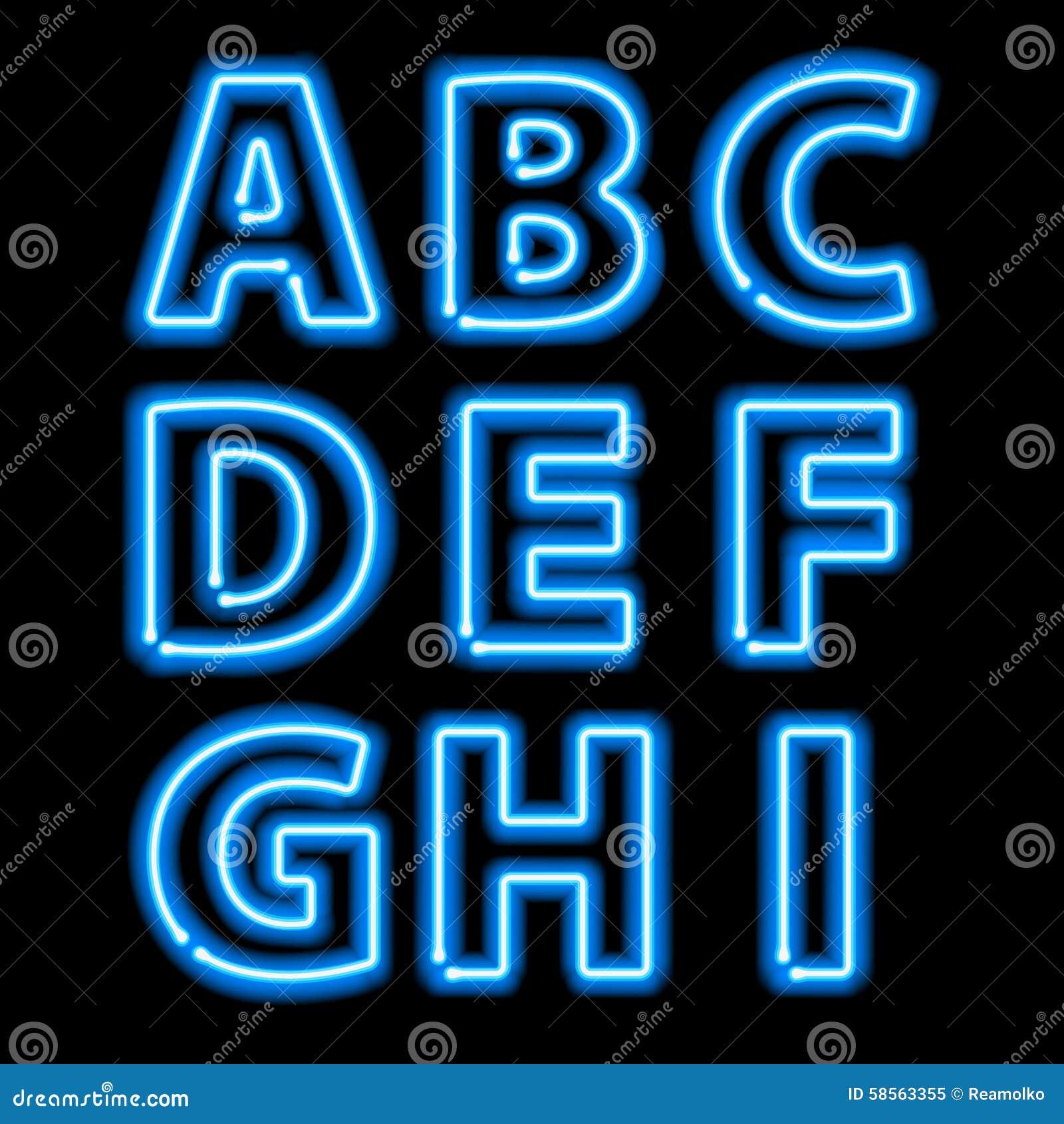 neon blue letters bing images. Black Bedroom Furniture Sets. Home Design Ideas