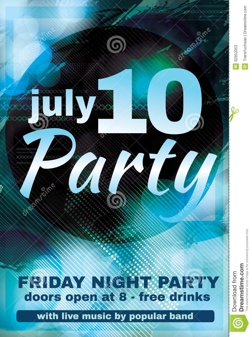 blue night club flyer design