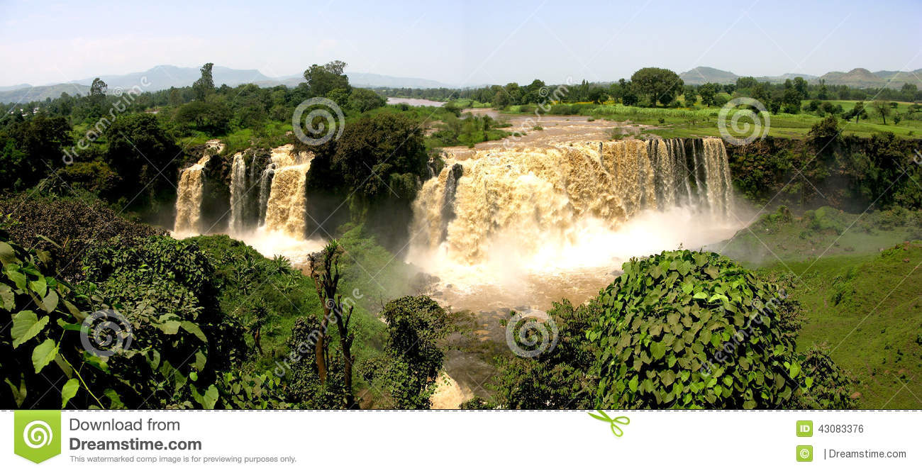 Blue Nile Falls Ethiopia Panorama Stock Photo Image Of