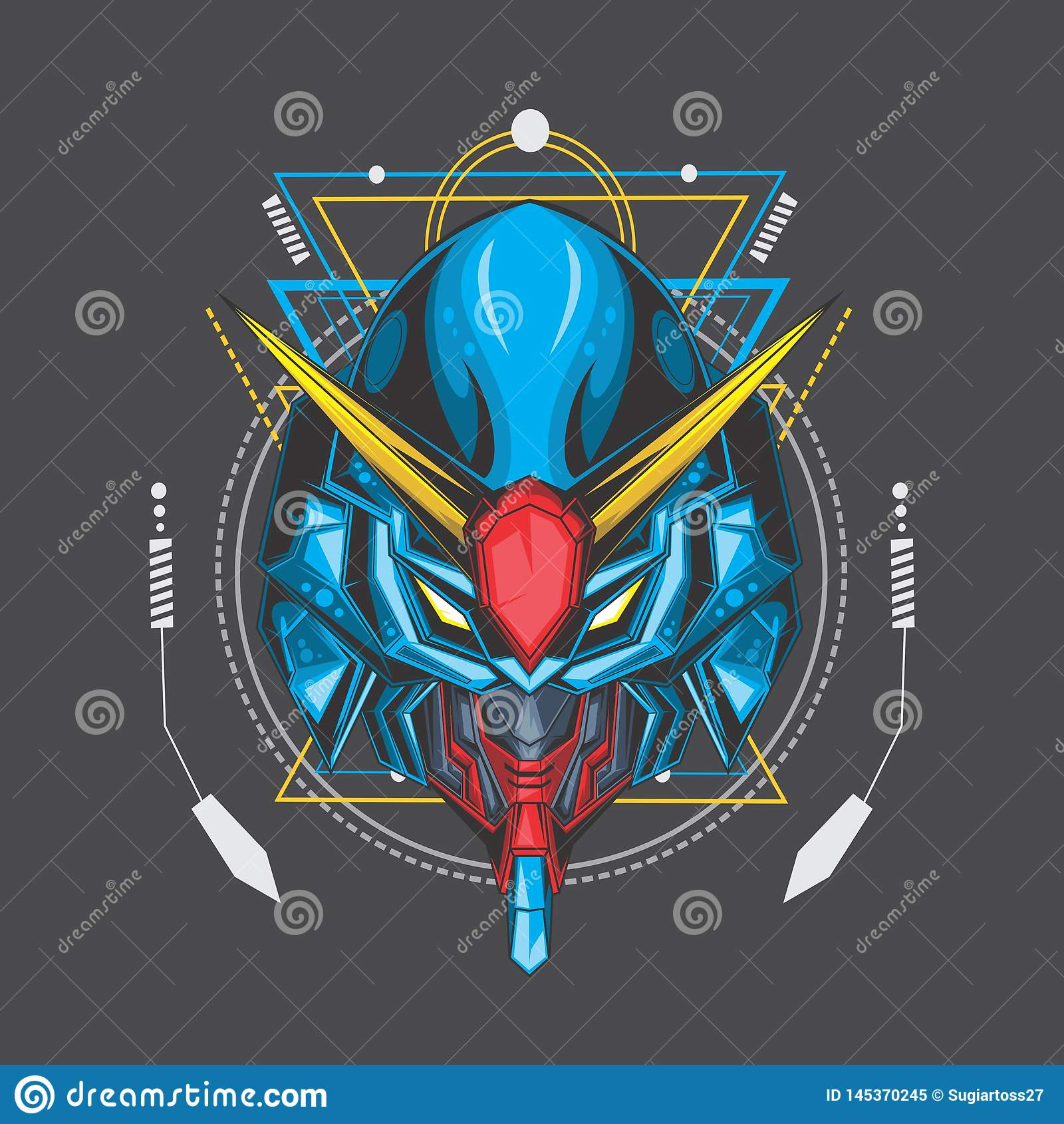 blue ocean gundam and sacred geometry