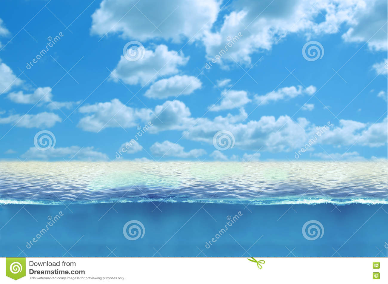 blue ocean water and blue sky with clouds stock illustration illustration of ocean background. Black Bedroom Furniture Sets. Home Design Ideas