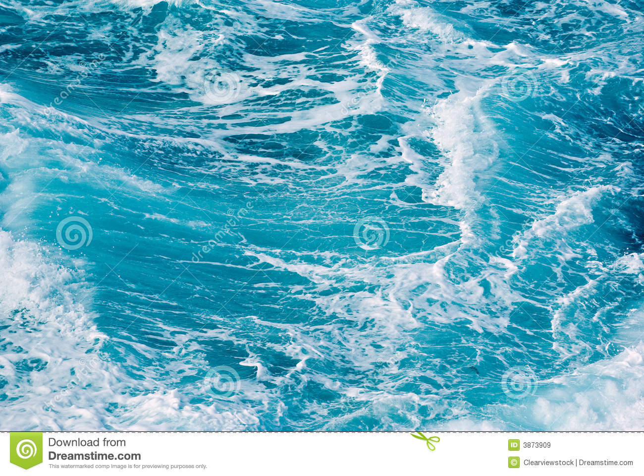 Blue Ocean Waves Background Royalty Free Stock Images - Image: 3873909